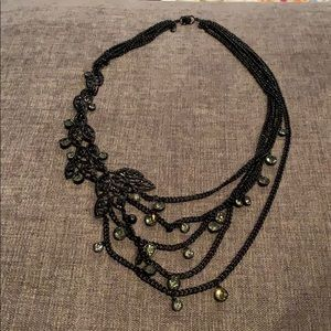 EUC Ann Taylor black statement necklace